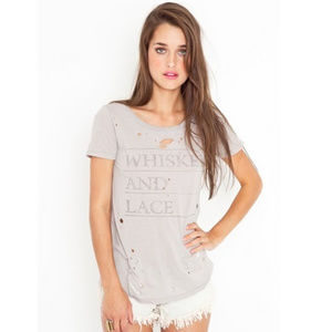 Chaser Whiskey and Lace Slouchy Tee Shirt - NWOT
